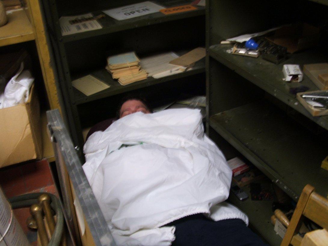 Sleeping Employee Clipart