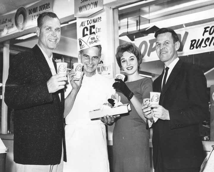 Big Do-Nut grand opening in Van Nuys, Californa - 11-14-1959