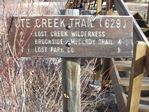 Ute Creek Trailhead, Lost Creek Wildnerness - 11-11-2011