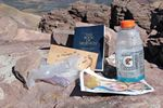 Junk on the summit of Kings Peak, Utah by Roger J. Wendell - 09-22-2011
