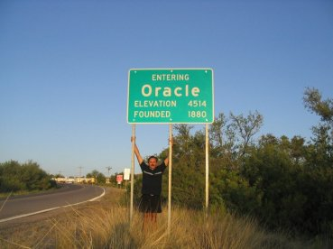 Roger J. Wendell visiting Ed Abbey's old stomping grounds near Oracle, Arizona - 06-13-2007