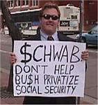 Me and Andrew Harrison Protesting Social Security Privatization in Boulder, Colorado - 03-31-2005