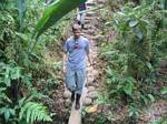 Graham hikes through the Rainforest - Ecuador, January 2006