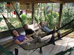 Relaxing in Hammocks - Amazonia, Ecuador, January 2006