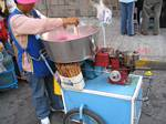 Gasoline Powered Cotton Candy Machine - Quito, Ecuador, December 31st, 2005