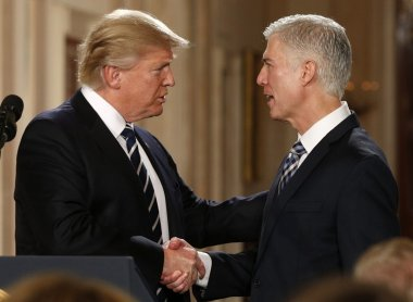President Trump and Neil Gorsuch - 2017