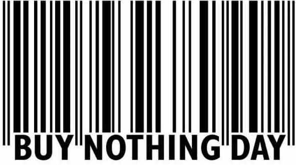 bar code. Buy Nothing Day Bar Code