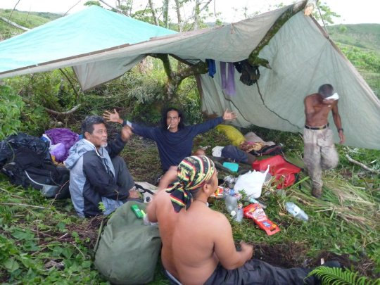 Living under a tarp at times - May/June 2015