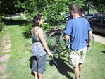 Bike to work day station at KGNU in Boulder, Colorado by Roger J. Wendell - 06-22-2011