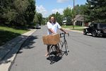 Hauling a large package on my bike, Roger J. Wendell - 07-09-2012