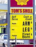 Arm, leg, first born gas pump