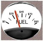 Fuel Guage Measured in Dollars
