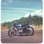 Roger J. Wendell's 1972 Honda CL 450 in Hawai'i - January 1976