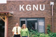 Kelly and Roger at KGNU 2005