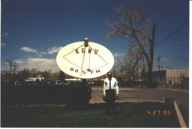 Roger and KGNU's Dish Antenna 1995