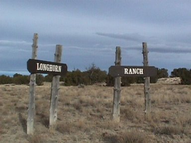Longhorn Ranch Entrance Signs