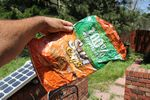 Sun Chip bag compost experiment follow-up - 06-27-2011