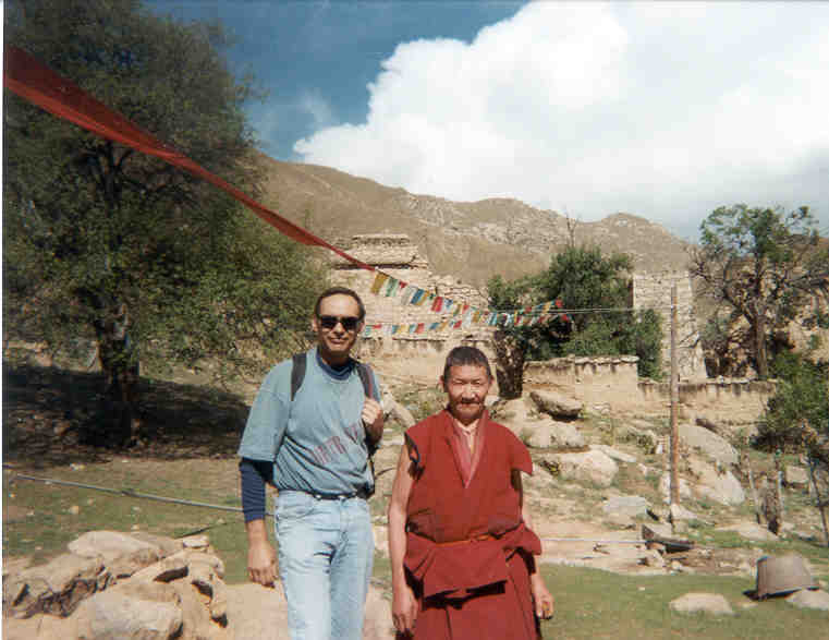 Randy and I hiked to a monestary near Lhasa that was observing a vow of silence for the day...