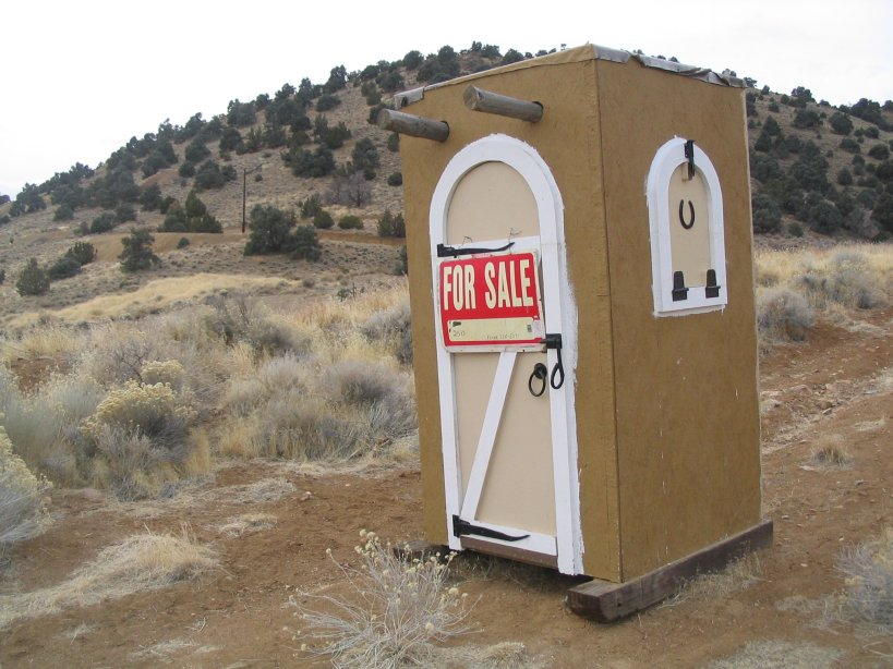 Help stolen port a john red white blue exit go for Porta johns for sale